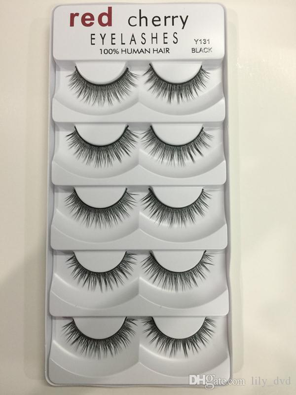 Red Cherry False eyelashes /pack 8 Styles Natural Long Professional makeup Big eyes High Quality