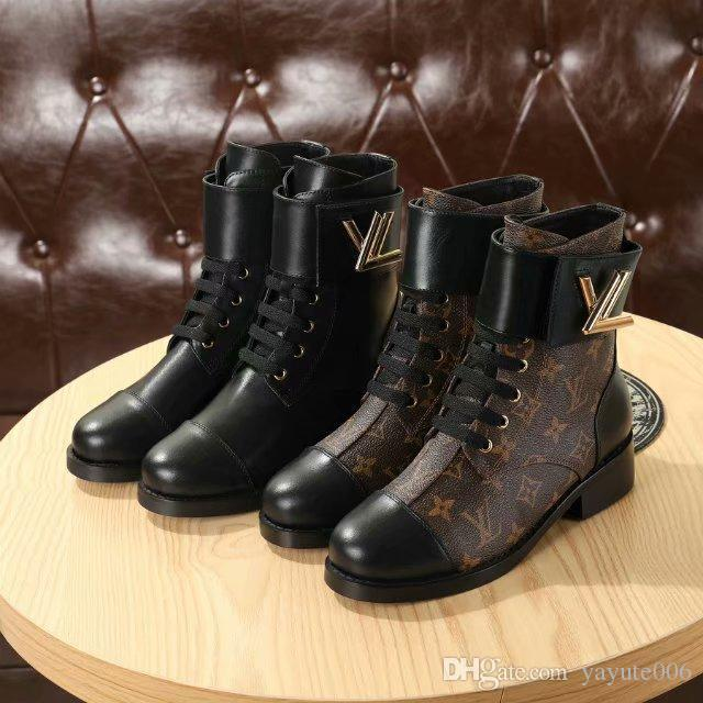 a17c7044d94 18ss Embroidered Martin boots female high heel autumn and winter new  leather stars lace-up short boots pearl