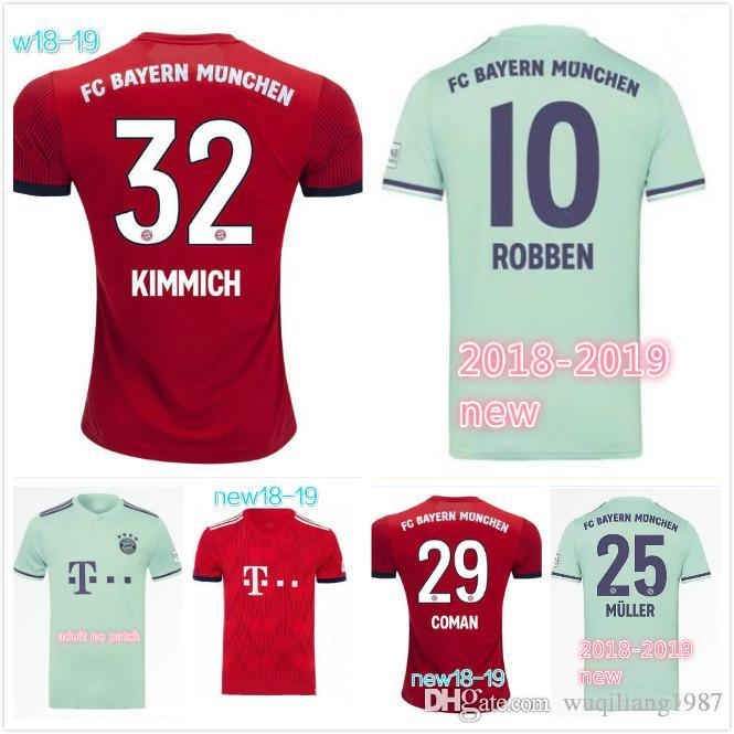 Compre Bayern Munich Camisa De Futebol Para Adultos 2018 19 CASA CAMISA DE  LONGA Camisas De Futebol De Müller ROBBEN LEWANDOWSKI Camisa De Futebol Do  Bayern ... 1ff2c5a4a7e2d
