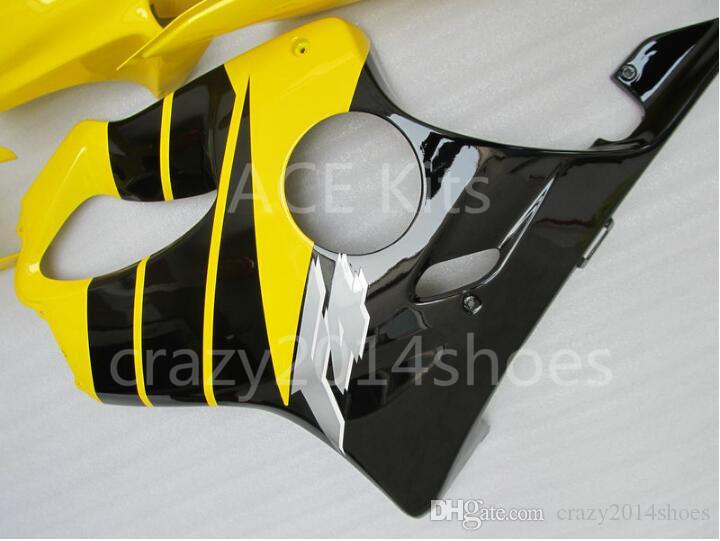 3 free gifts New Injection mold Fairing kit for HONDA CBR600F4 99 00 CBR600 F4 1999 2000 CBR 600 ABS Black Yellow A9