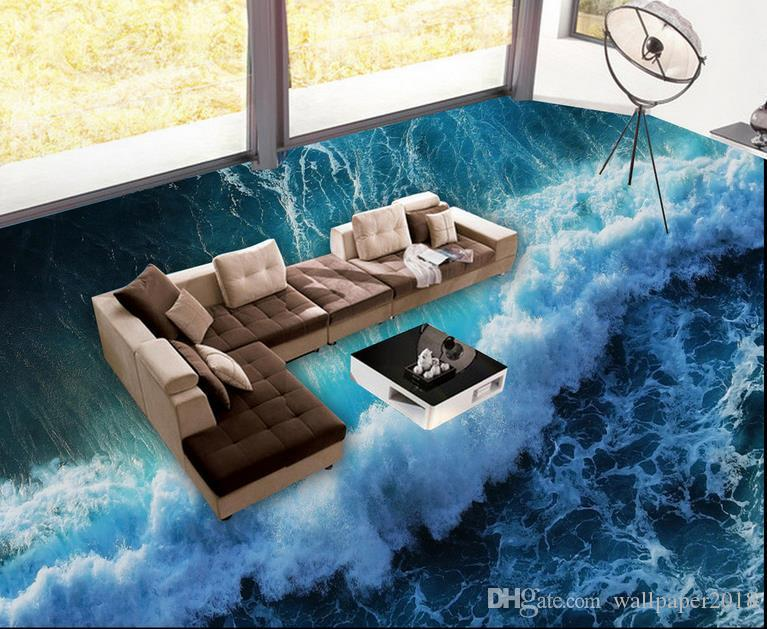 3d Flooring For Living Room And Bedroom Surf Sea Water Living Room Floor Design Photo Wall Murals Wallpaper Mobile Wallpaper Mobile Wallpaper Download