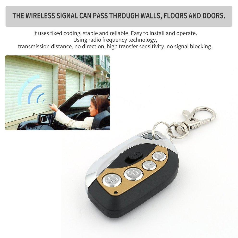 5PCS Multifunctional 4 Buttons 433MHz Wireless Remote Control Universal Cloning Car Gate Garage Door Key Auto Keychain Switch