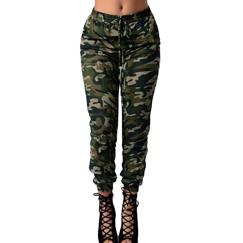 e2bad4d117c95 2019 2019 New Fashion Camouflage Pants Women Print Elastic Waist Casual 5XL  Plus Size Camo Pants Army Green Long Trousers Sweatpants From Jincaile07
