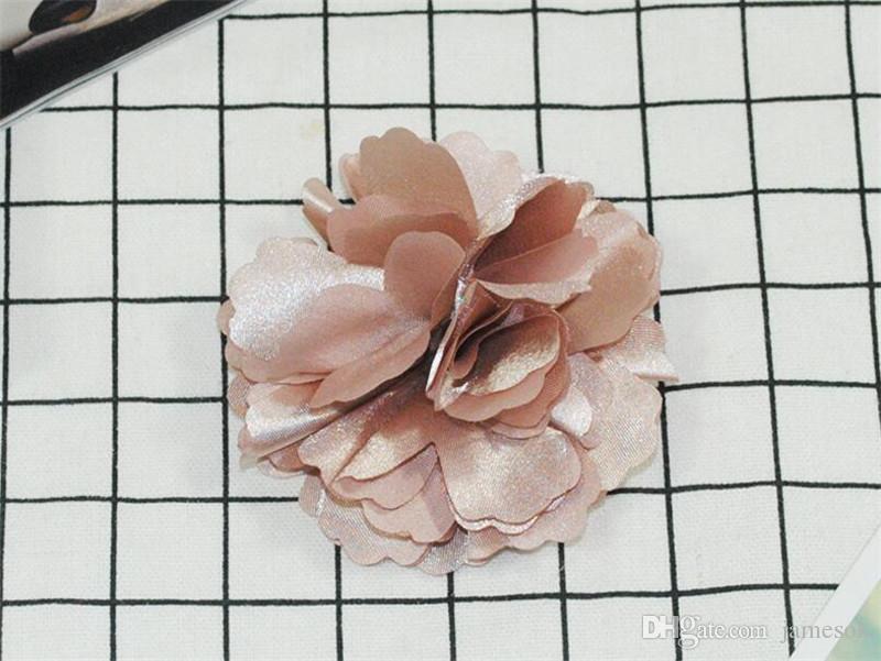 Заколки для волос из цветов камелии розовые Заколка для волос из атласного шелка с шифонами, Брошь TO528