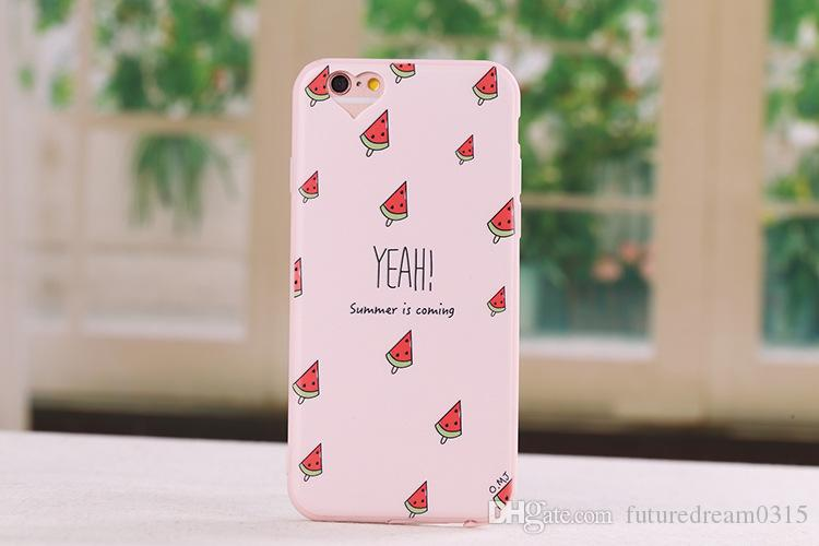 Cute girl women Love Heart Camera Hole Soft TPU Phone Case For iPhone 6 6S Plus SE 7 8 Plus X Protective Back Cover Shell