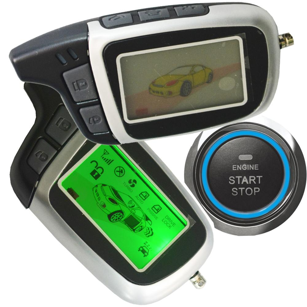 ignition start stop button auto car alarm system remote keyless entry  central lock unlock car door central lock automatication