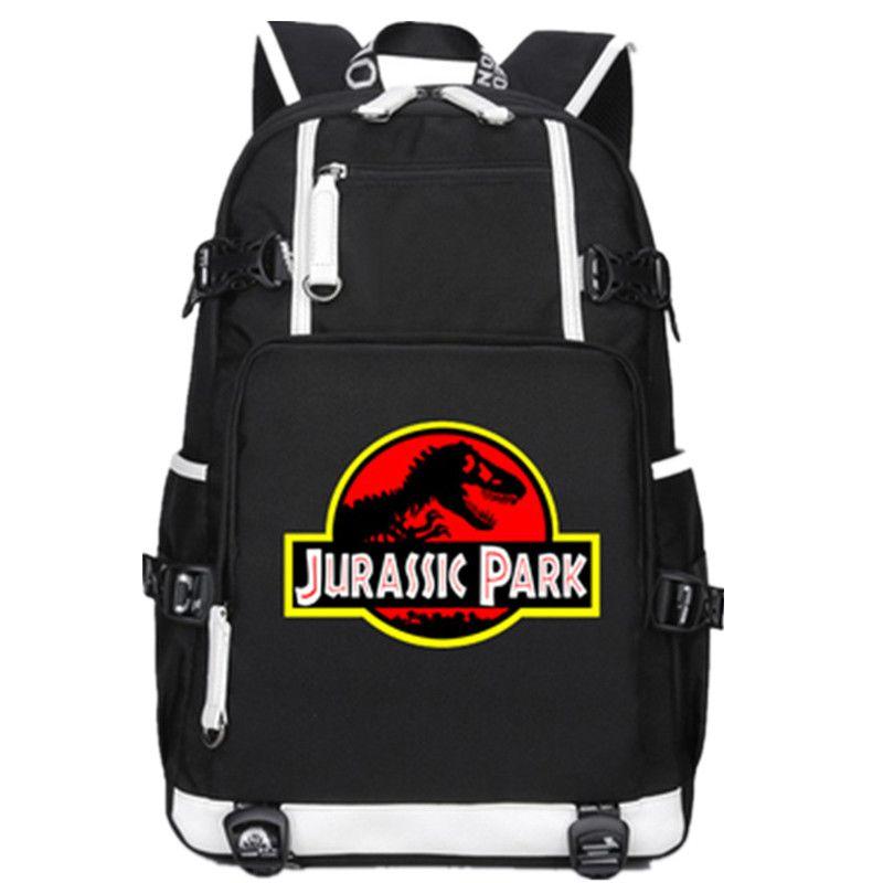 cecfaab7d2 Jurassic Park Jurassic World Dinosaur Student Bookbag Casual Rucksack  Student Schoolbag Bag For School Boys Girls Travel Laptop Backpacks Travel  Backpacks ...