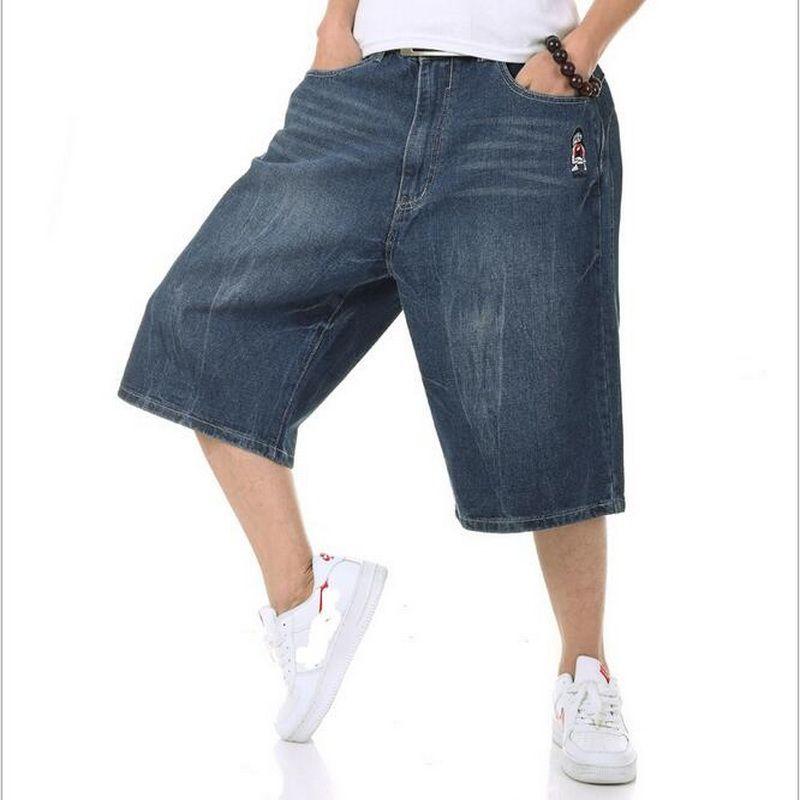 bd578b51ef2e4 Compre VXO Verano Para Hombre Pantalones Cortos De Mezclilla De Carga Retro  Vintage Acid Washed Faded Short Jeans Para Hombres HIPHOP Harlan Straight  Hombre ...