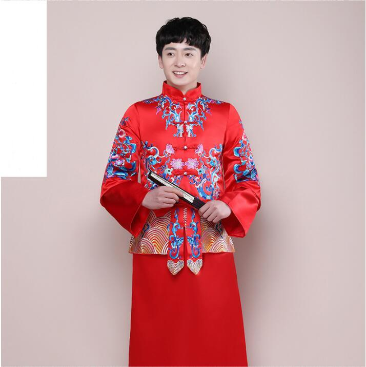Acquista 2017 Nuovi Uomini Di Stile Cinese Tradizionale Abbigliamento  Ricamo Tradizionale Cinese Abito Da Sposa Uomini A  130.44 Dal Manxinxin  2dea2964ebc
