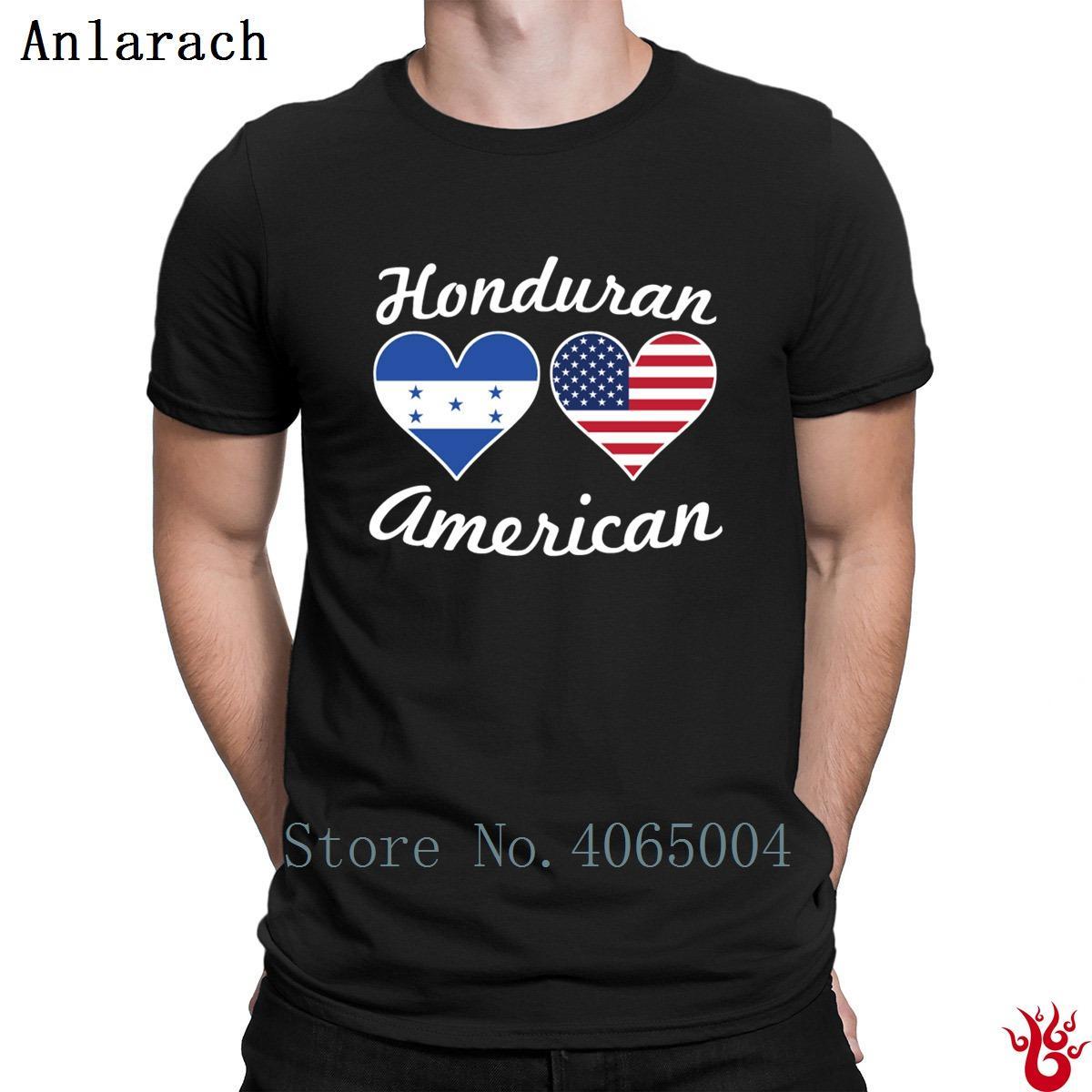 3d60219b7 Compre Camiseta De Corazones Con Bandera Hondureña Americana Camiseta Con  Top Pop Camiseta De Hombres Divertidos Con Estampado Informal Ropa De  Verano ...