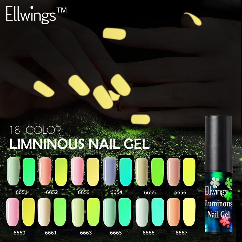 Ellwings Glow In The Dark Gel Varnish Color Change Neon Gel Nail ...