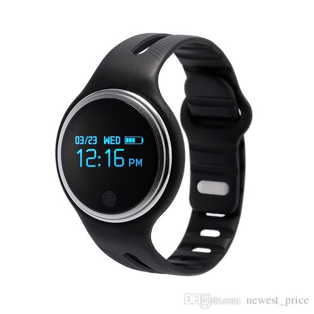 E07 Smart Watch Bluetooth 4.0 OLED GPS Sports Pedometer Fitness Tracker Waterproof Smart Bracelet For Android IOS Phone Watch PK fit bit