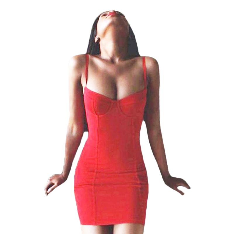 bbf418f281d Summer Sexy Red Bandage Dress Women Bodycon Spaghetti Strap Party Dresses  Vestidos Clubwear Clothing Robe Femme KH855608 Red Dress Little Black Dress  From ...