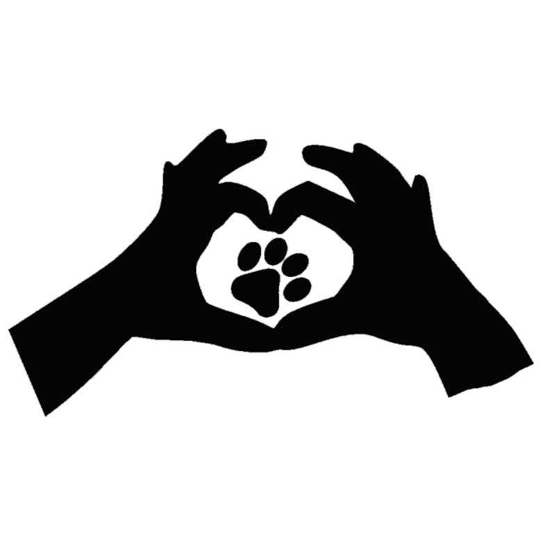 79f49fdd8c46 HotMeiNi Wholesale Love Paw Print Cat Dog Car Window Sticker Heart Cute  Funny Vinyl Decal Canada 2019 From Iyouyou, CAD $24.89   DHgate Canada