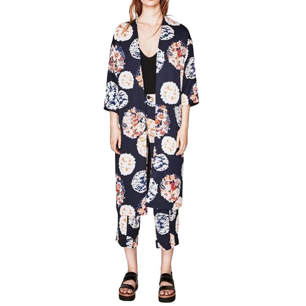 f54a74e5bb New Fashion Sexy Women Chiffon Kimono Cardigan Vintage Floral Cover ...