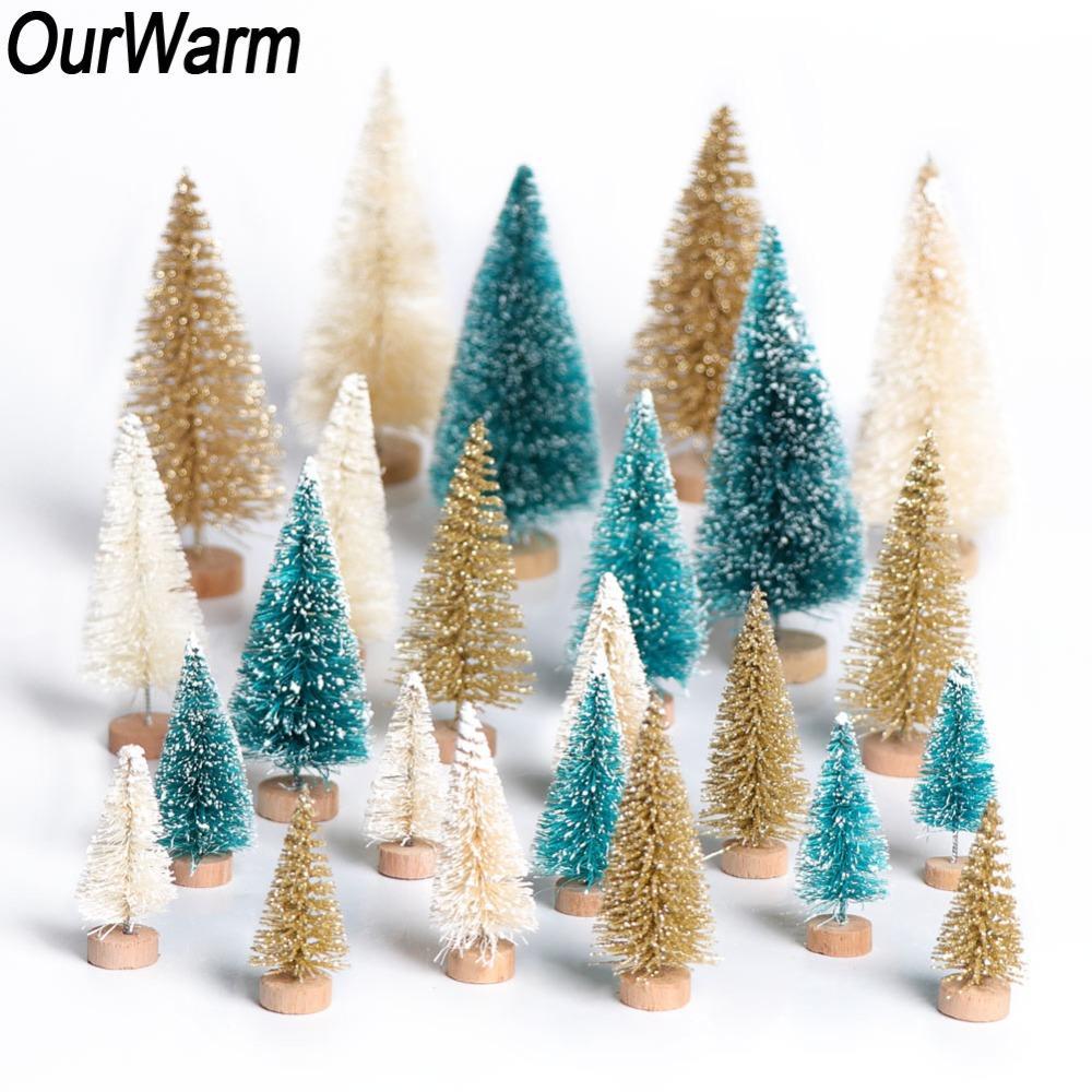 Regali Di Natale Per Casa.Ourwarm 8pcs Stand Mini Albero Di Natale Regali Di Capodanno Decorazioni Di Natale Per La Casa Piccola Pino Situato Nel Desktop