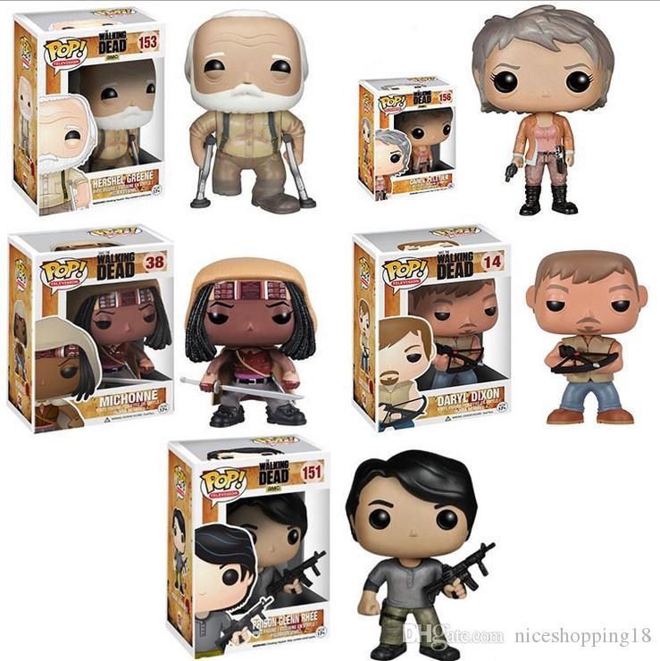 Bon Prison T53 Le Cadeau Pvc Rhee Oorder Hershe Daryl Michonne Pop Mélange Funko Negan Jouets Enfants Walking Glenn Dead Figurine Carol GMqzSUVp