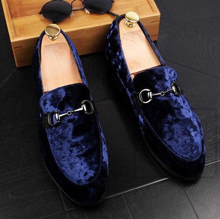 31397f056c4 2018 New Style Luxury Mens Wedding Blue Tuxedo Shoes Patent Leather Black  Fashion Slip On Dress Shoe Men Brand Elevator Shoes S96 Prom Shoes Hiking  Shoes ...
