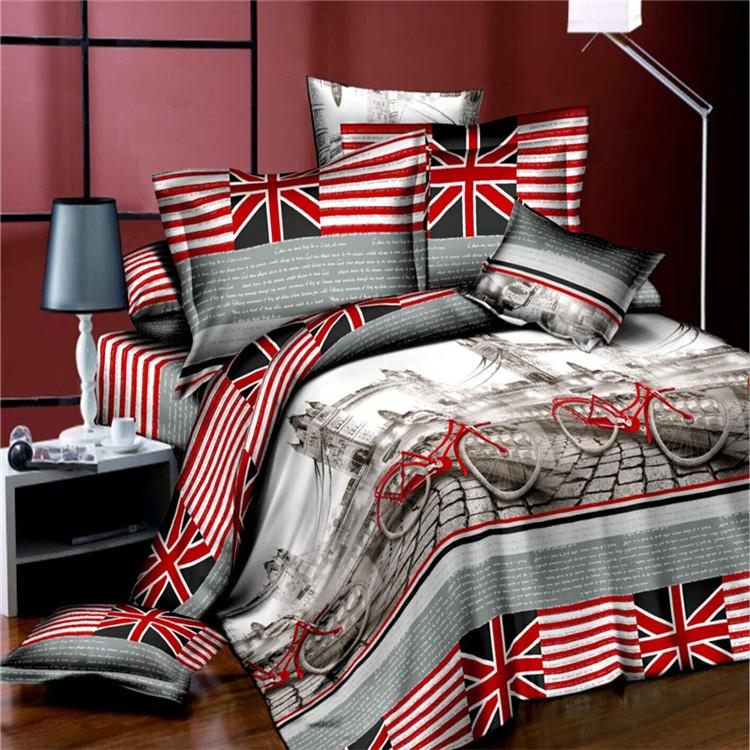 3d Violet Bedding Set Home Textiles Family Set Include Bed Sheet
