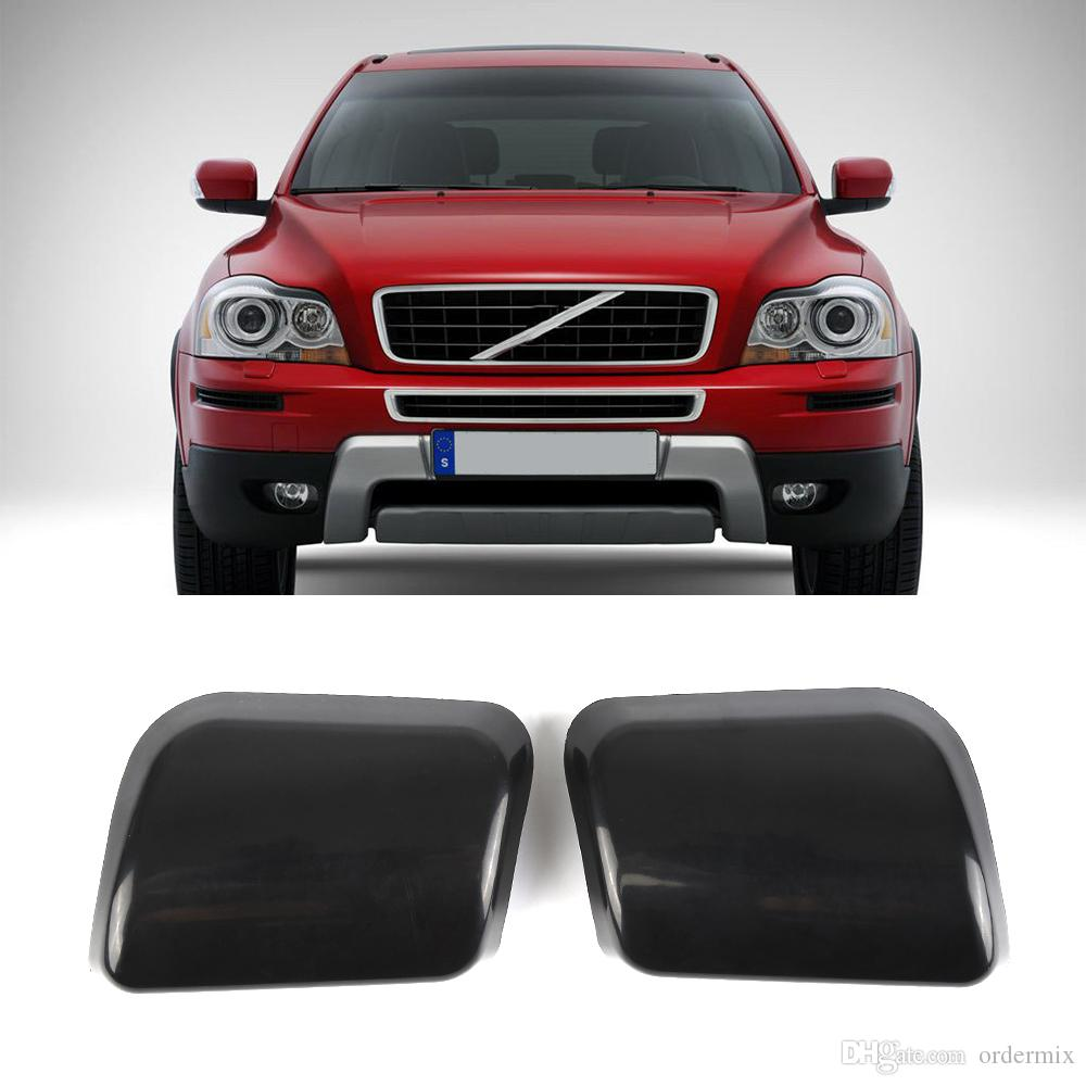 High Quality Front Bumper Headlamp Headlight Washer Jet Nozzle Cover Cap for VOLVO XC90 2002-2006 black