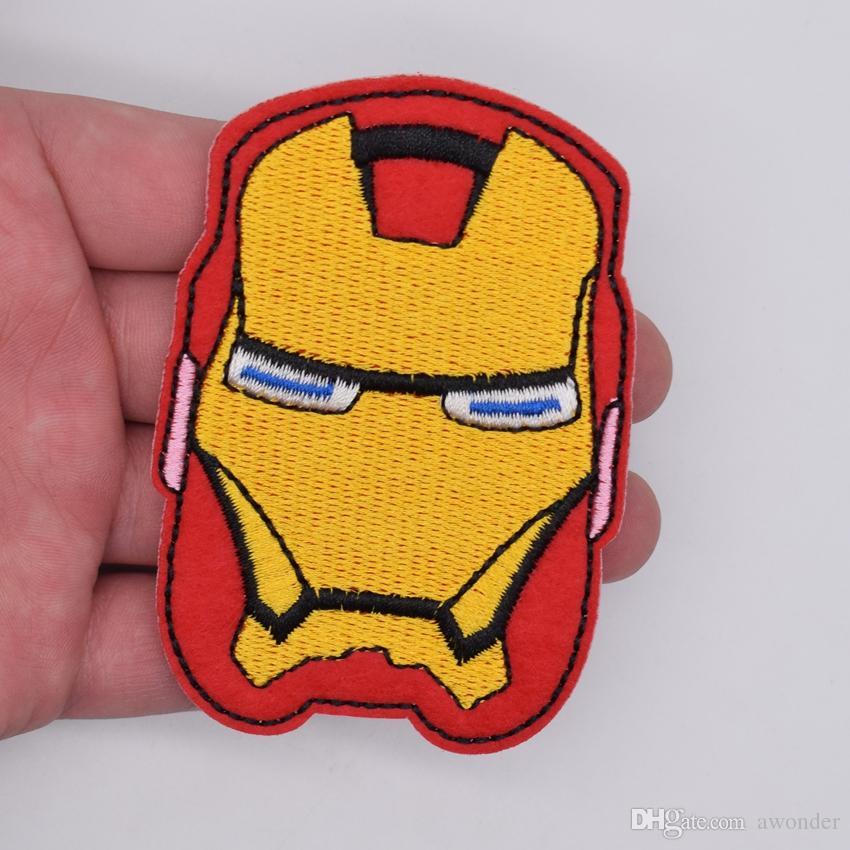 Iron Man Mark Casco Bordado Parches Comic The Avengers Tony Stark Película Cosa Hierro en aplique Parche Insignia DIY Ropa Jeans Bolsa de chaqueta