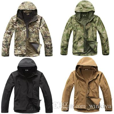 Shark skin Soft Shell Upgraded Lurker TAD V 5.0 Military Tactical Jacket Waterproof Windproof Army bomber jacket Clothing Assurance