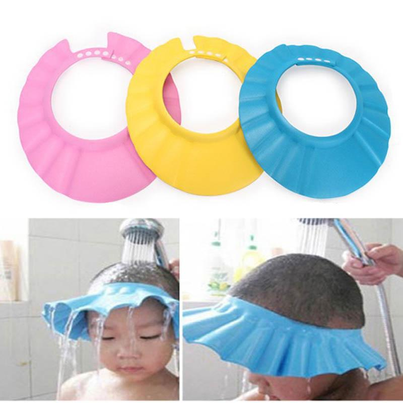 956fef1d090 2019 Adjustable Baby Wash Hair Shield Shower Hat Cap Protects Your Baby Or  Toddler S Eyes From Entent