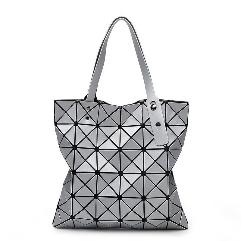 bcff59b2ab65 2019 Fashion Fashion Diamond Women Bao Bags Geometry Matte Handbag Female  Geometric Casual Tote Lady Shoulder Bag Top Handle Bag With Logo Branded  Bags ...