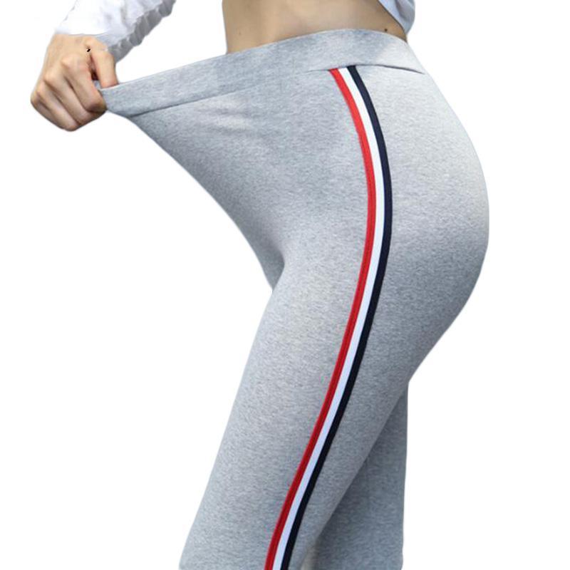 9a9796b358562 2019 Yesello 2018 Plus Size S 5XL Leggings Women Christmas Side Striped  Legging High Waist Gothic Black Leggins Pants From Bigseaa, $37.05 |  DHgate.Com