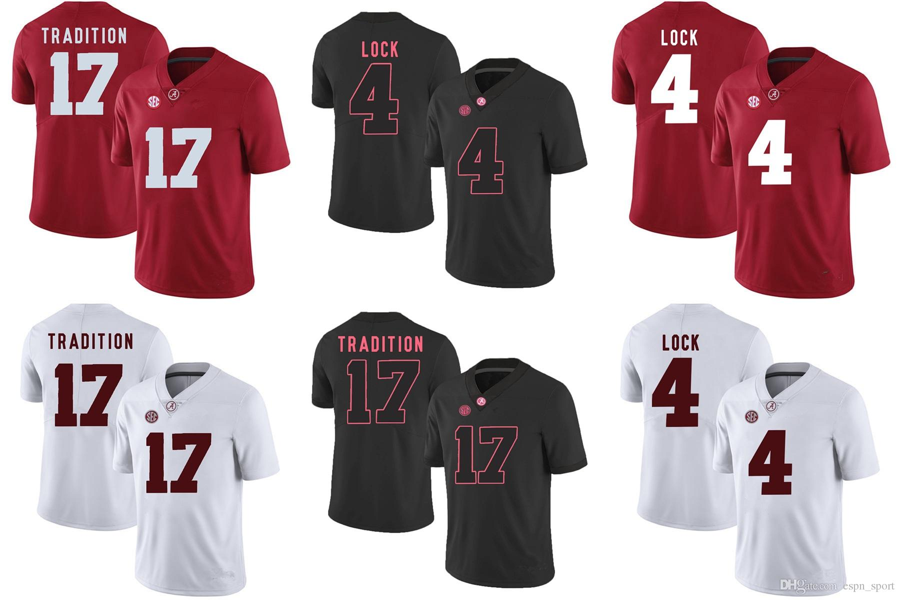 3bd1fb964 2019 Factory Outlet Alabama LOCK 4 TRADITION 17 College Football Jerseys  Size S 3XL