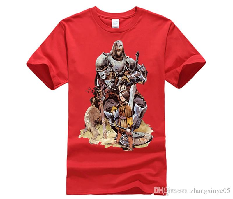Tee-shirt manches courtes 100% coton O-Neck ARYA ET LE JEU DE HOUND GAME OF THRONES Top