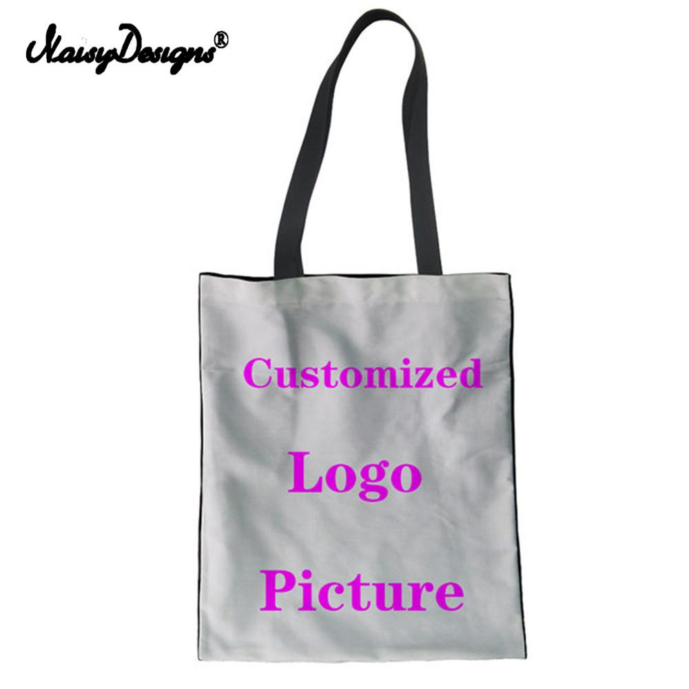 79e5ee6685 NOISYDESIGNS Cutomiz Reusable Shopping Bag Cotton Grocery Shopping Bag  Women Mesenger Bags Canvas Tote Bags Webshop Eco Foldable Bags Wholesale  Wholesale ...