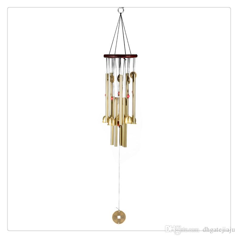 Large Wind Chime Yard Garden Outdoor Noisemaker Home Decoration Windchime  Bells Pavilion Copper Coin Accessories Home Decor Accessories House From ...