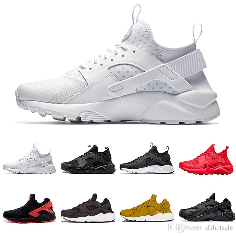 big sale adfce c9ecb Huarache 1.0 4.0 Classic Triple White Black Red Gold Huraches IV Men Women  Running Shoes Breath Trainers Sports Sneakers Eur 36 45 Best Running Shoes  For ...