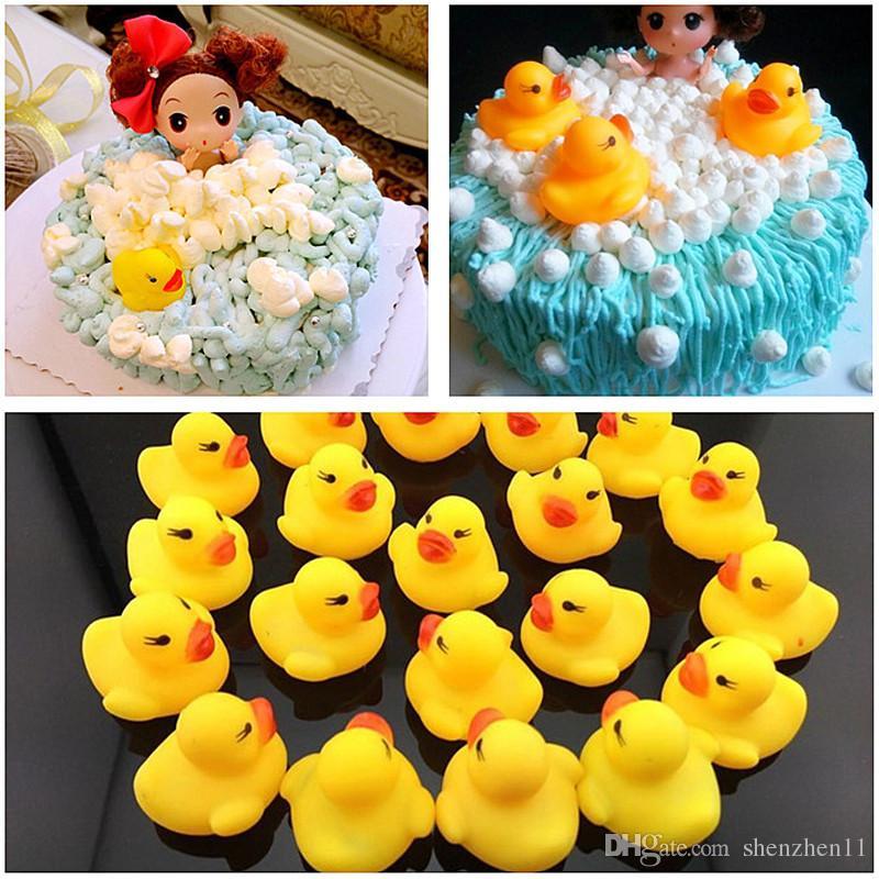 Baby Badewasser Ente Spielzeug Sounds Mini Gelb Gummienten Kinder Bad Kleine Ente Spielzeug Kinder Schwimmen Strand Geschenke OTH872