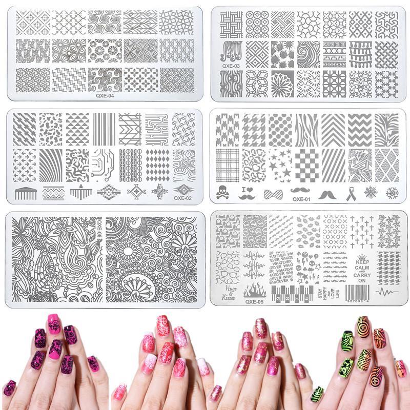20 Style 612 Cm Nail Art Stamper Plate Gel Polish Tips Diy Stamping