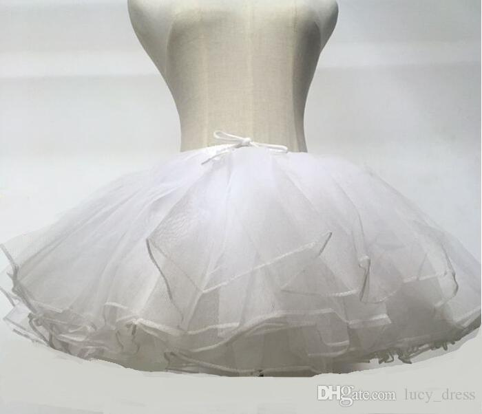 Kinder Petticoats Hochzeit Zubehör 4 Schichten Hoopless kurze Krinoline weiße Blume Mädchen Kleid Kind Prinzessin Unterrock HDY556