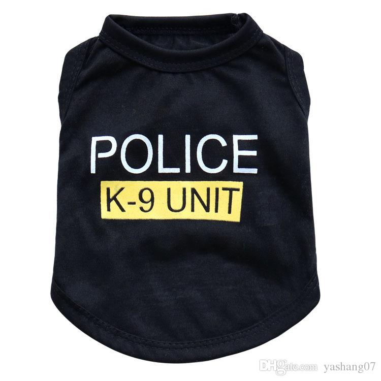 New Dog Apparel Fashion Cute Dog Vest Pet sweater Puppy Shirt Soft Coat Jacket Summer Dog Cat Clothes Police K-9 Unit