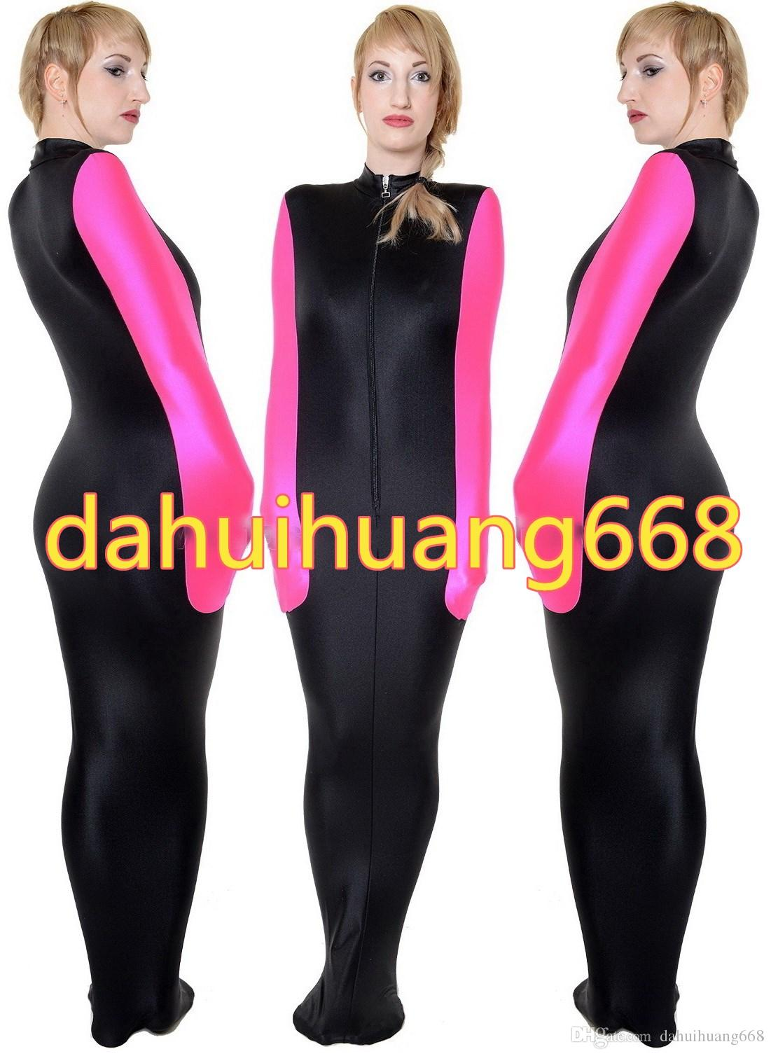 Black/Pink Lycra Spandex Mummy Suit Costumes Unisex Sleeping Bags Mummy Costumes With internal Arm Sleeves Halloween Cosplay Costumes DH113