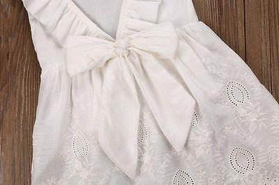 Малыш дети девочки кружева платье принцессы партии театрализованное свадебный сарафан 2 - 8Т девушка платья
