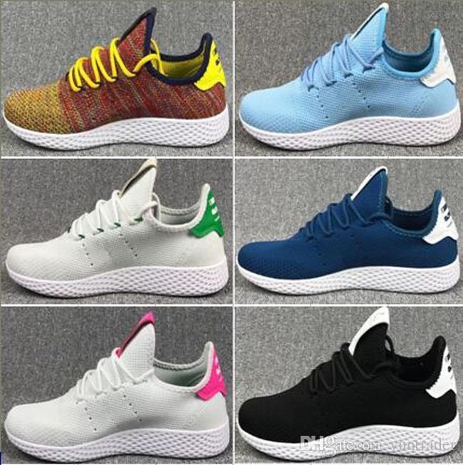 2018 Originals Pharrell Williams Tennis Hu Shoes Stan Smith 3D Primeknit  Sports Women Men PW Human Race Running Casual Light Hiking Shoe Clogs For  Women ... aabd22fa2f