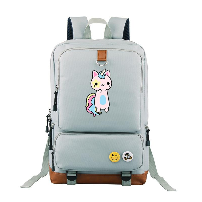 New Japanese Anime Cat Unicorn Backpack Travel Shoulder Bag For Girls And  Boys Students Bags Popular Bag Osprey Backpack Tool Backpack From  Wangbeiche 79b318803e08d