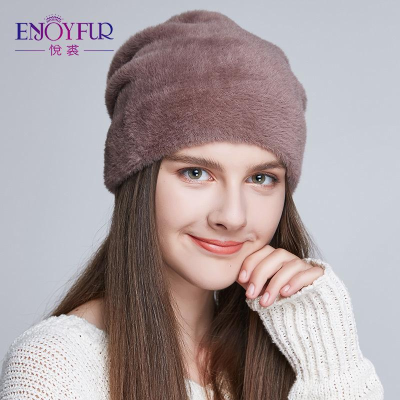 3d224da1b42 Cheap ENJOYFUR Women s Hats For Winter Imitate Wool Soft Thick Caps New  Style Casual Hats Female For Women C18103101