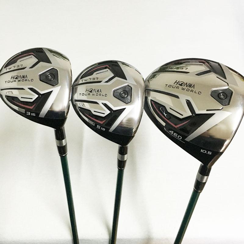 Hot New Golf clubs HONMA TW737P Golf wood clubs driver+fairway wood Graphite Golf shaft R or S flex Free wood set shipping