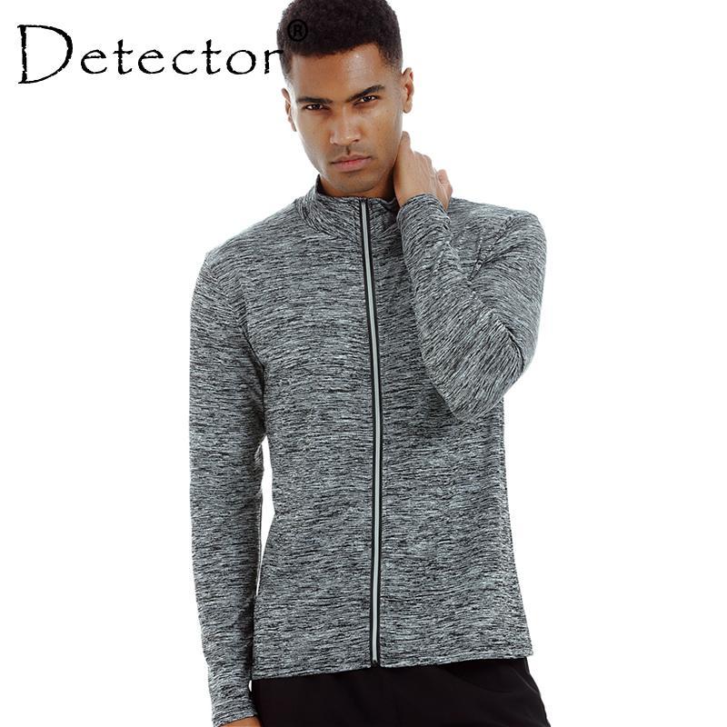 c486896f28 Compre Detector Sports Long Sleeve Jacket Mens Running Mallas Camiseta  Basketball Zipper Fitness Transpirable De Secado Rápido Stretch Tops A   24.92 Del ...