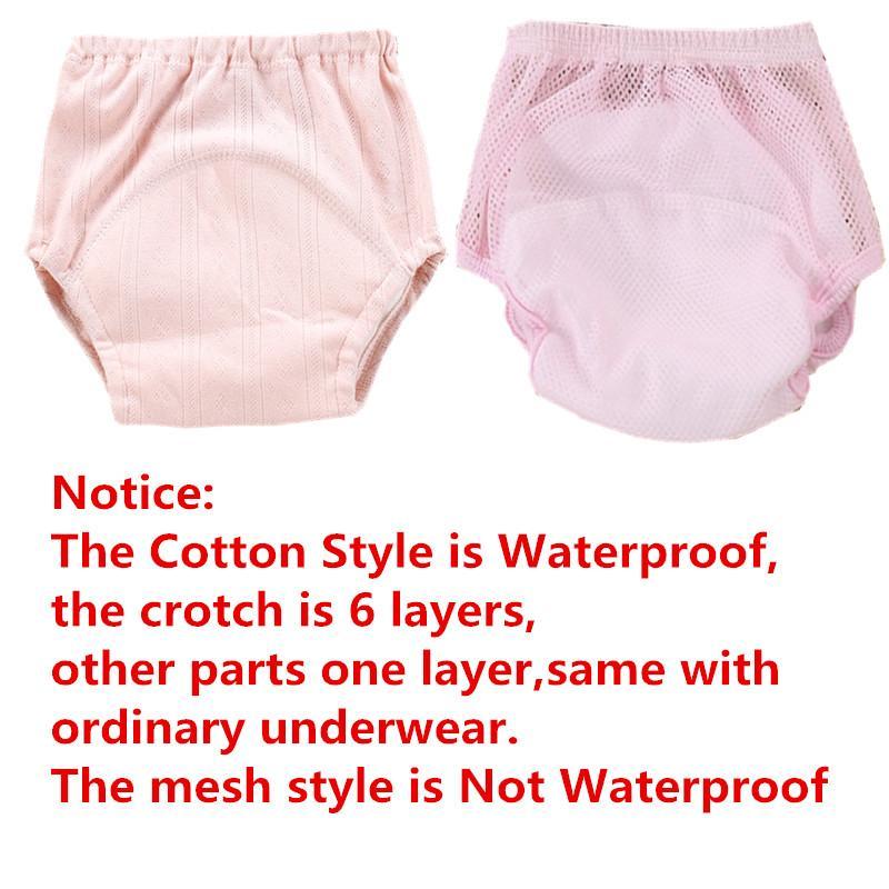 Coton Bébé Potty Training Pantalon Garçon Fille Couches En Tissu Réutilisables Couches Étanches Pour Tout-petit Enfants Nouveau-Né Lavable