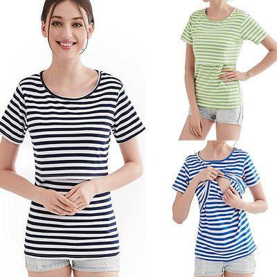 Women's Clothing Nursing Breastfeeding Top,nursing Top,maternity Breastfeeding T-shirt,short Sleeve 29