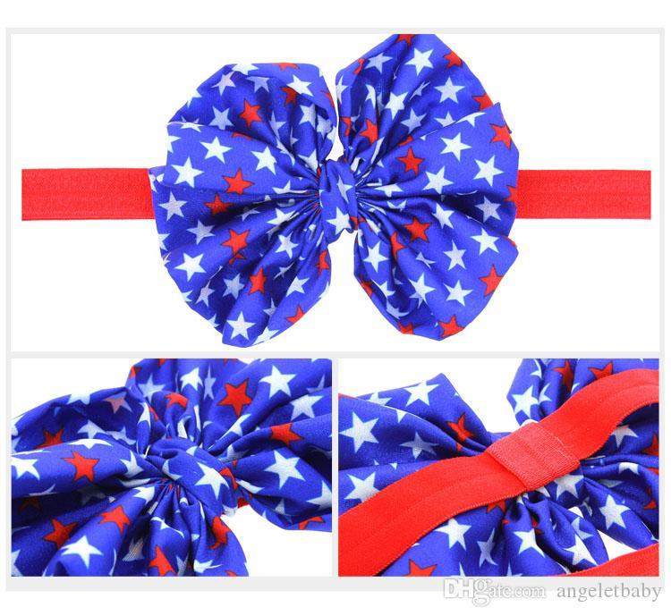 Headbands Baby Girls Flower Headbands Chiffon beautiful Flower Elastic For Baby Hair Accessories Headwear H146