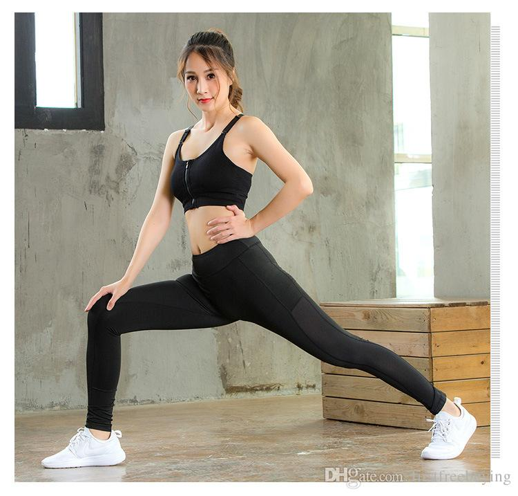 1 Unid / lote 2018 Pantalones de yoga de venta caliente Leggings deportivos de fitness Mujeres Legging Slim Running Casual Skinny Tights Pantalones Pantalones