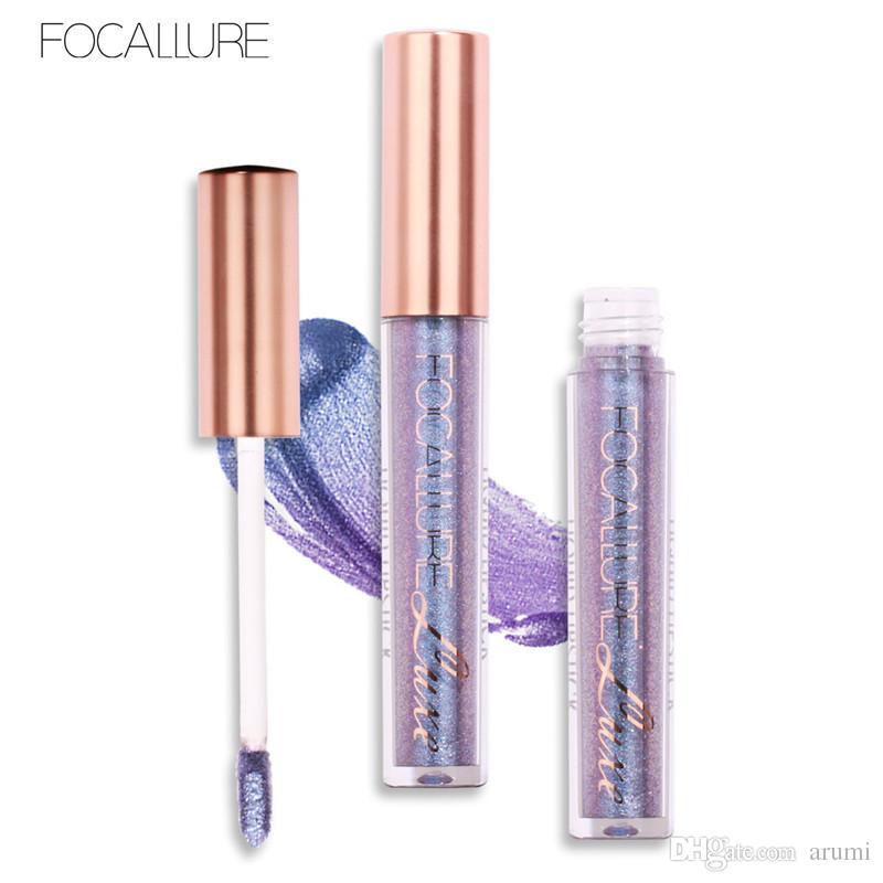 Nuovo arrivo Focallure Sexy Colors Lip Paint Opaco Gloss Chameleon Metal Lipstick Shimmer Glitter Lip Gloss Impermeabile Long Lasting Lip Gloss